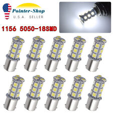 10X White 7000K 1156 BA15S 18SMD Tail Brake Stop Turn Signal LED Light Bulbs 12V
