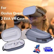 More details for for oculus quest 2 eva vr headset & controller travel carrying case storage bag