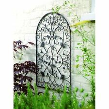 Patio Wall Art flower plaques metal wall art accent decor home set 2 kitchen