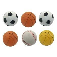 6Pcs Squeaky Latex Rubber Dog Toy Balls for Interactive Medium Small Dogs Chew