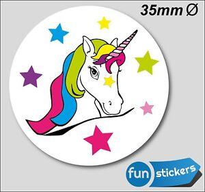 """Sticker /""""Einhorn/"""" mit Glimmer Karten basteln 38 Aufkleber Einhörner /& Sterne"""