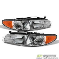 97-03 Pontiac Grand Prix Replacement Headlights w/ Corner Signal Left+Right
