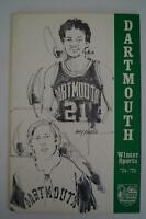 Vintage Basketball Media Press Guide Dartmouth University 1974 1975
