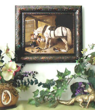 Herring Arabian Farm Horse Print Antique Style Framed 11X13 Pony picture fy