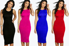 Unbranded Women's Crew Neck Knee Length Stretch, Bodycon Dresses