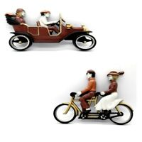 Homco Wall Hanging Plaques 7357 Bicycle and 7359 Car Vintage 1975