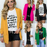Womens Casual Blazer Jacket Coat Ladies Slim Lapel Business Outwear Suit Tops