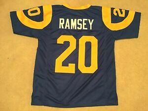 UNSIGNED CUSTOM Sewn Stitched Jalen Ramsey Blue Jersey - M, L, XL, 2XL