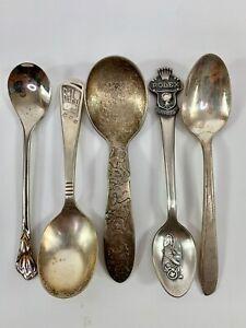 Demitasse Souvenir and Baby Spoons (x5)