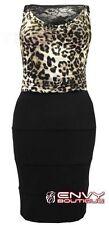 Polyester Animal Print Casual Sleeveless Dresses for Women
