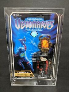 Visionaries Cravex Action Figure moc 1987 Hasbro with acrylic case