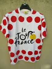 T-shirt cycliste style maillot à pois TOUR DE FRANCE coton vintage jersey S