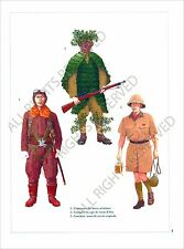 PLANCHE UNIFORMS PRINT WWII JAPAN ARMY ARMEE JAPON Imperial Lieutenant Air Force