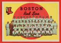 1959 Topps #248 Boston Red Sox Team EX/EX+ CREASE Ted Williams FREE SHIPPING