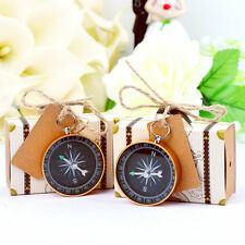 10×Travel Themed Party Compass with Suitcase Candy Gift Box Wedding Souvenirs