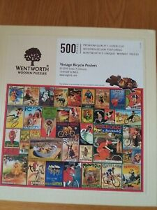 Wentworth wooden jigsaw puzzle500 pieces - Vintage Bicycle Posters