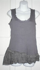 GLAMOROUS WOMENS  Grey 100% Viscose  Crew Neck Sleeveless Top  Size:10/38(WT01)