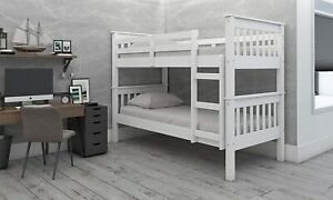 Children's Bunk Bed White Lacquered Colorado Can Be Split into two Single Beds