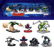 New - SPIDER-MAN 7 Figure Playset - SANDMAN Goblin VENOM Doc Ock CAKE TOPPERS