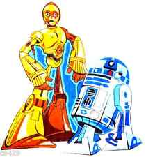 "9.5"" Large Star Wars R2D2 & C3Po Fabric Applique Character Iron On"