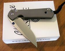 CHRIS REEVE New Double Thumb Lug Large Sebenza 21 Plain S35VN Blade Knife/Knives