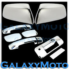 07-13 TUNDRA TRIPLE Chrome TOP HALF Mirror+4 Door Handle no PSG+Tailgate Cover