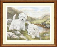 WEST HIGHLAND TERRIERS ltd edition dog print of WESTIES