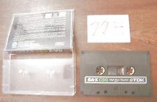 MC Cassetta Musicassetta TDK  SA-X C90 C 90 sax vintage compact cassette audio