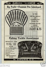 1926 PAPER AD Gambling Punch Boards Fishing Tackle Fountain Pens Straight Razor