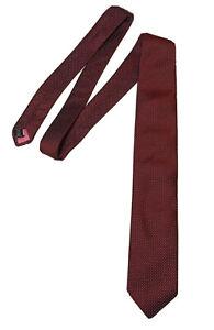 Eton Neck Tie Red Dot Pattern 100% Silk Made In Italy Designer