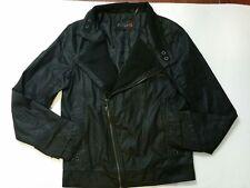 G By Guess Denim Moto Jacket Casual Mens XS Black