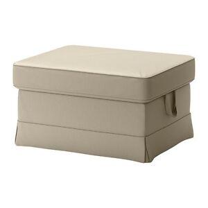Ikea Ektorp Footstool cover only Tygelsjo Beige 602.545.98 60254598