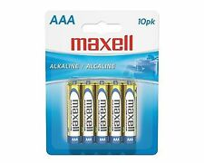 NEW Maxell AAA Alkaline Batteries Carded 10-Pack Long Lasting Reliable LR0310BP