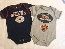 NFL Team Apparel Chicago Bears 3-6 Month Short Sleeve Bodysuit 2-Pack New