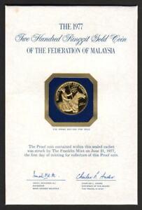Malaysia. 1977 Gold 200 Ringgit.. Bajau Horseman.. AGW .2089oz.. PROOF