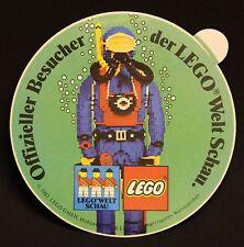 Aufkleber Sticker Offizieller Besucher der Lego Welt Schau 1983 - Abb. Taucher