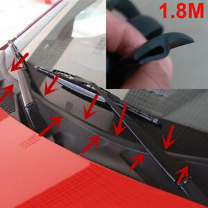 1.8M Car Ageing Rubber Seal Under Front Windshield Panel Sealed Moulding Strips