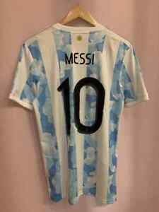 ARGENTINA NT 2020/2022 HOME FOOTBALL SHIRT JERSEY CAMISETA SIZE S MESSI #10