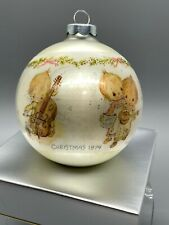 Hallmark 1974 Betsey Clark Tree Trimmer Collection Ornament Glass Dated Ball Box