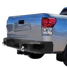 For 07-13 Toyota Tundra Black Heavy Duty Off-Road Rear Step Bumper w/Dual D-Ring