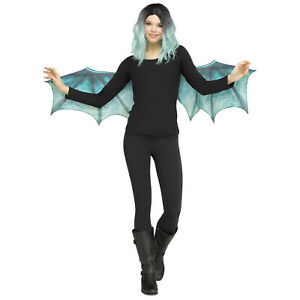 Adult Medieval Dragon Dinosaur Halloween Costume Wings Accessory Teal Blue
