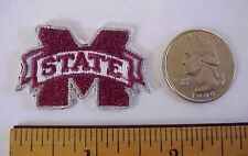 "MISSISSIPPI STATE UNIVERSITY Embroidered 1 1/2"" x 1"" Cap/ Shirt Iron-On Patch"