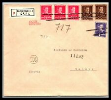GP GOLDPATH: ROMANIA COVER 1943 REGISTERED LETTER AIR MAIL _CV477_P21