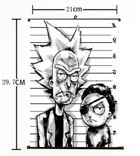 Hot American Anime Cartoon Rick and Morty Whole Home Decor Poster Wall Scroll 05