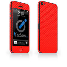 iPhone 5 Skin - Red Carbon Fibre skin by iCarbons