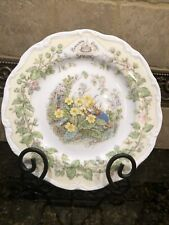 "Royal Doulton ""Brambly Hedge ~ Spring"" Jill Barklem 1982 Series Of Mice Plates"