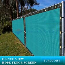 New listing Ifenceview 23 FT Wide Turquoise Green Fence Privacy Screen Patio Top Shade Cloth