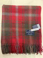 100% Wool Blanket | The House Of Balmoral Scotland | Dark Maple | Tartan
