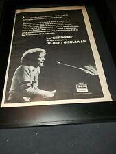Gilbert O'Sullivan Get Down Rare Original Promo Poster Ad Framed!