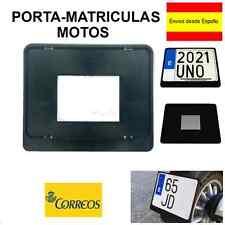 PORTA MATRICULAS/MARCO MATRÍCULA MOTO POLIPROPILENO EN COLOR NEGRO